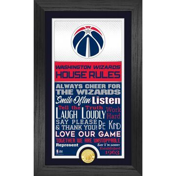 Washington Wizards Highland Mint 12'' x 20'' House Rules Supreme Bronze Coin Photo Mint