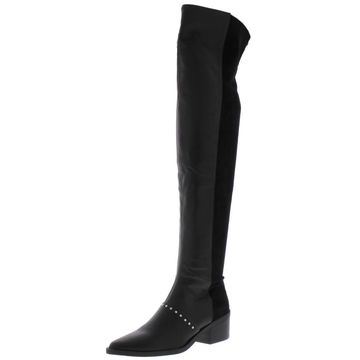 Report Womens Zaria Faux Leather Studded Over-The-Knee Boots