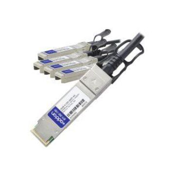 AddOn 3m Extreme Compatible QSFP+ Breakout DAC - Direct attach cable -