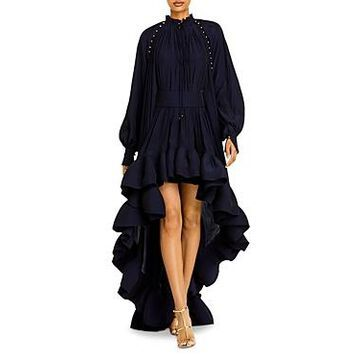 Lanvin Ruffled High/Low Dress