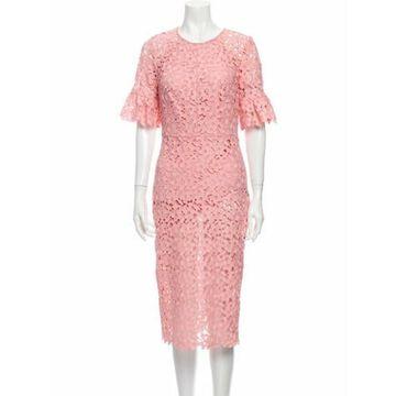 Lace Pattern Midi Length Dress w/ Tags Pink