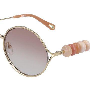 Chloe CE 167S 742 Womenas Sunglasses Gold Size 57