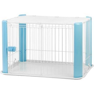 IRIS Wire Pet Play Pen with Roof, Blue