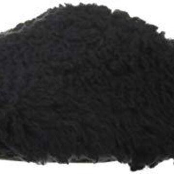 Dearfoams DF Women's Yarn Heel Scuff Slipper, Black, M Medium US