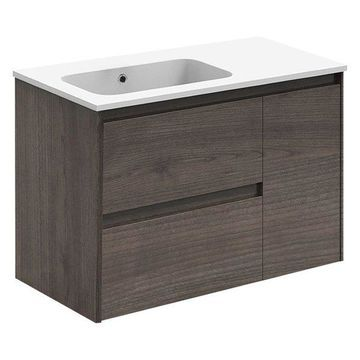 Ambra 90 Complete Vanity Unit, Samara Ash, Without Mirror