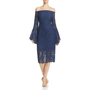 Bardot Women's Lace Off The Shoulder Bell Sleeve Cocktail Dress