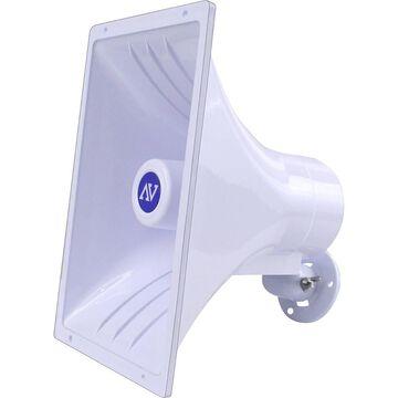 AmpliVox Indoor/Outdoor Wall Mountable Speaker, White, S1270