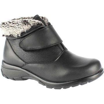 Toe Warmers Women's Secure Waterproof Cuff Boot Black Leather