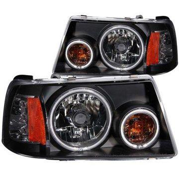 ANZO USA 111152 01-11 RANGER 1 PC. PROJECTOR HALO BLACK CLEAR AMBER (CCFL) HEADLIGHTS