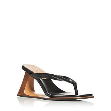Marni Women's Cutout Wedge Thong Sandals