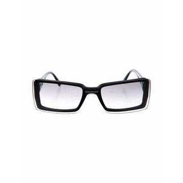 Signature Logo Square Sunglasses Black