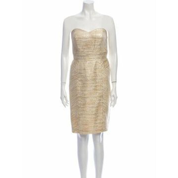 Strapless Knee-Length Dress w/ Tags Gold