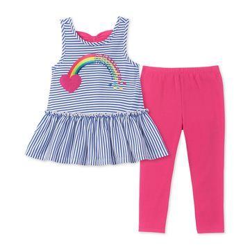 Baby Girls 2-Pc. Bow-Back Tunic & Leggings Set