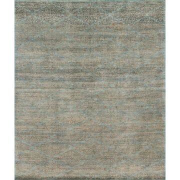 ESSXEQ-01AQSA5686 5 ft. 6 in. x 8 ft. 6 in. Transitional Essex Collection Hand Knotted Wool Rug - Aqua & Sand