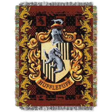 Harry Potter Hufflepuff Crest Triple Woven Tapestry Throw