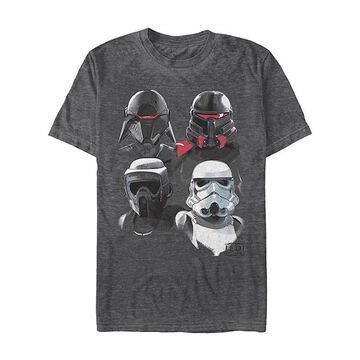 Fifth Sun Tee Shirts BLK - Star Wars: Jedi Fallen Order Heather Black Fourth Order Tee - Adult