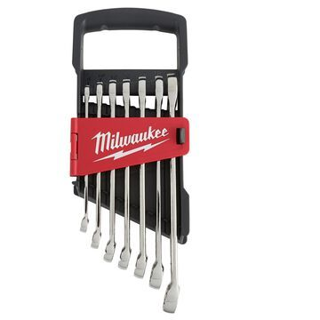 Milwaukee MAX BITE Assorted S Metric Combination Wrench Set 12 in. L 7 pc