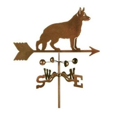 EZ Vane German Shepherd Dog Weathervane With Four Sided Mount