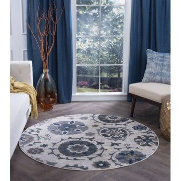 Bliss Rugs Wilma Transitional Indoor Round Area Rug