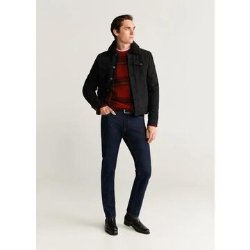 MANGO MAN - Plaid sweater red - XL - Men