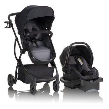 Evenflo Urbini Omni Plus Travel System Stroller, Two-Tone Alloy Gray