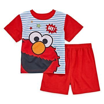 Boys 2-pc. Sesame Street Shorts Pajama Set Toddler