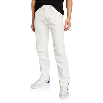 Men's 5622 Zip-Trim Skinny Jeans, White