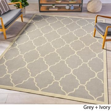 Estha Indoor Geometric Area Rug by Christopher Knight Home - 7'10 x 10'10 (7'10 x 10'10 - grey)