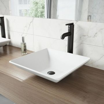 VIGO Seville Matte Black Vessel Bathroom Faucet