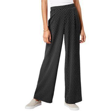 Ultra Flirt Womens Polka-Dot Casual Wide Leg Pants