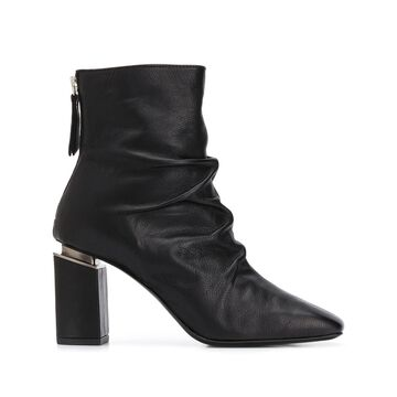 ruched ankle boots