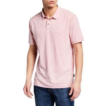 Men's Gregory Heathered Slub Polo Shirt