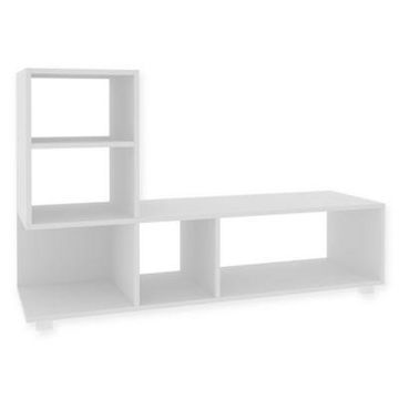 Manhattan Comfort Lagarto Bookcase in White