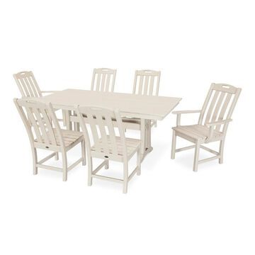 Trex Outdoor Furniture Yacht Club 7-Piece Tan Frame Dining Patio Dining Set with Dining