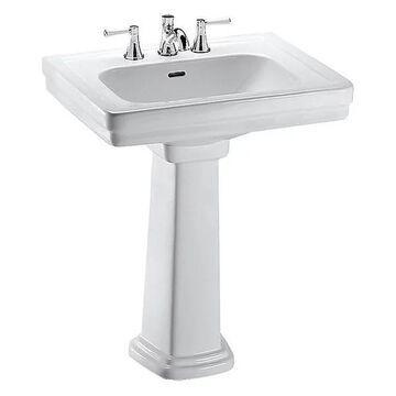 Toto Lpt530.40N#01 Promenade 28X22 Cotton White Pedestal Lavatory Sink
