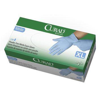 Medline Curad Nitrile Exam Gloves X-Large Blue