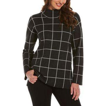 Rafaella Women's Windowpane Tunic Sweater -