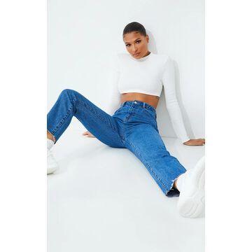 PrettyLittleThingStraight Leg Mid Wash Jeans