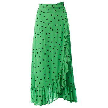 Ganni Green Viscose Skirts