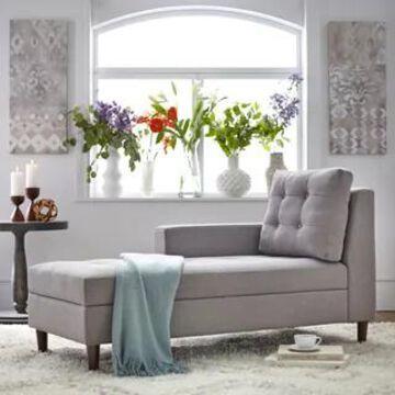 Simple Living Sabrina Storage Chaise (Grey)
