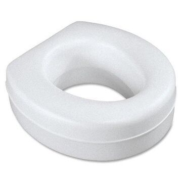 Medline Raised Toilet Seat, Contoured, Plastic