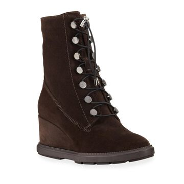 Campbell Weatherproof Suede Wedge Boots