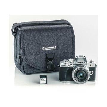 Olympus OM-D E-M10 Mark III Mirrorless Silver Camera w/14-42 EZ Lens Access.