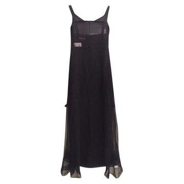 Rochas Black Silk Dresses
