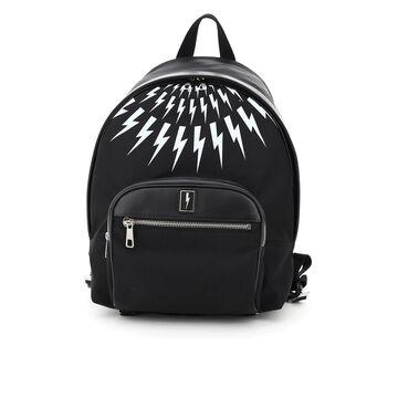 Neil barrett fair-isle thunderbolt backpack