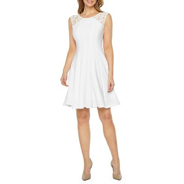 Danny & Nicole Sleeveless Fit & Flare Dress-Petite