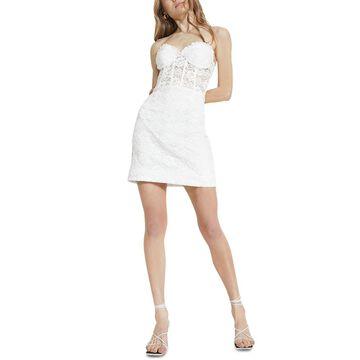 Bardot Lace Corset Mini Sheath Dress
