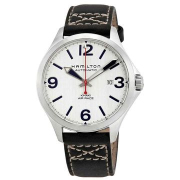 Hamilton Khaki Aviation Air Race Silver Dial Men's Leather Watch H76525751