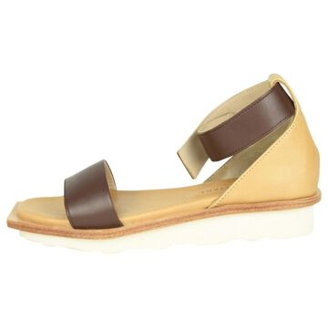 Issey Miyake Camel Leather Sandals