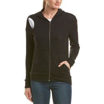 Chaser Womens Cutout Hoodie
